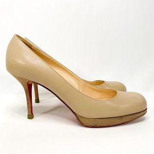 CHRISTIAN LOUBOUTIN Nude Red Bottoms Pump Heels